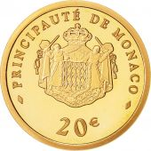 Monaco, 20 Euro, 2008, MS(65-70), Gold, KM:198