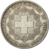 Coin, Switzerland, 5 Francs, 1861, EF(40-45), Silver, KM:S6