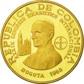 Coin, Colombia, 200 Pesos, 1968, MS(63), Gold, KM:232
