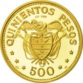 Coin, Colombia, 500 Pesos, 1968, MS(63), Gold, KM:234