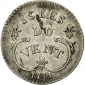 Monnaie, Windward Islands, Louis XV, 12 Sols, 1731, La Rochelle, SUP, Argent