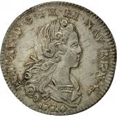 Coin, France, Louis XV, Petit Louis dargent (3 livres), 1720, Paris, MS