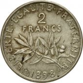 Coin, France, Semeuse, 2 Francs, 1898, Paris, Piéfort, MS(60-62), Silver