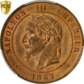 Coin, France, Napoleon III, 10 Centimes, 1862, Paris, PCGS MS64RB