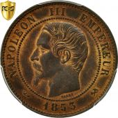 Coin, France, Napoleon III, 10 Centimes, 1853, Rouen, PCGS MS63RB