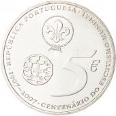 Portugal, 5 Euro, 2007, FDC, Argent, KM:770