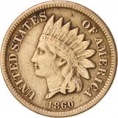 États-Unis, Indian Head Cent, 1860-P, KM:90