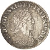 France, Louis XIII, 1/12 Ecu, 1642, Paris, Argent, Gadoury:46