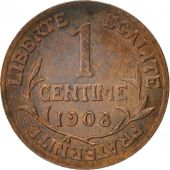 France, Dupuis, Centime, 1908, Paris, Bronze, KM:840, Gadoury:90