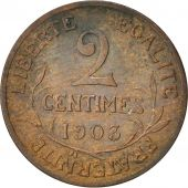 France, Dupuis, 2 Centimes, 1903, Paris, Bronze, KM:841, Gadoury:107