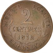 France, Dupuis, 2 Centimes, 1912, Paris, Bronze, KM:841, Gadoury:107