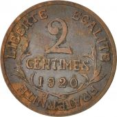 France, Dupuis, 2 Centimes, 1920, Paris, Bronze, KM:841, Gadoury:107