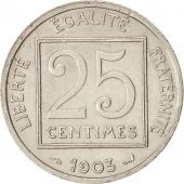 France, Patey, 25 Centimes, 1903, Paris, Nickel, KM:855, Gadoury:362