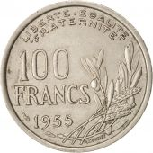 France, Cochet, 100 Francs, 1955, Paris, Copper-nickel, KM:919.1