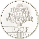 France, 100 Francs, 1987, Argent, BE, KM:962a