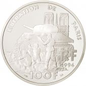 France, Libération de Paris, 100 Francs, 1994, Silver, KM:1045.2