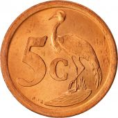 South Africa, 5 Cents, 1991, Copper Plated Steel, KM:134