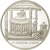 France, Medal, Le moulin à vent, Sciences & Technologies, FDC, Argent