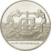 France, Medal, La vis transporteuse, Sciences & Technologies, FDC, Argent