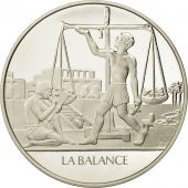 France, Medal, La balance, Sciences & Technologies, FDC, Argent
