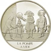 France, Medal, La pompe à vide, Sciences & Technologies, FDC, Argent