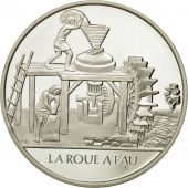 France, Medal, La roue à eau, Sciences & Technologies, FDC, Argent