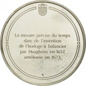 France, Medal, Lhorloge à balancier, Sciences & Technologies, FDC, Argent