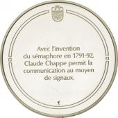 France, Medal, Le sémaphore, Sciences & Technologies, FDC, Argent