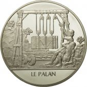 France, Medal, Le palan, Sciences & Technologies, FDC, Argent
