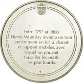 France, Medal, Le tour à charioter, Sciences & Technologies, FDC, Argent