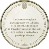France, Medal, La charrue, Sciences & Technologies, FDC, Argent