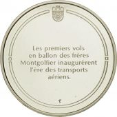 France, Medal, Le ballon, Sciences & Technologies, FDC, Argent