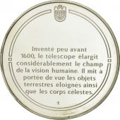 France, Medal, Le télescope, Sciences & Technologies, FDC, Argent