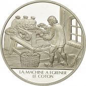 France, Medal, La machine à égrener, Sciences & Technologies, FDC, Argent