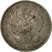 Russia, Alexander I, Rouble, 1814, Saint-Petersburg, VF(30-35), Silver, KM:130