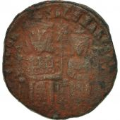 Leo VI (886-912) and Alexander, Follis, 886, Constantinople, TTB, Cuivre, BMC:11