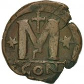 Justin I 518-527, Follis, 518-522, Constantinople, EF(40-45), Copper, BMC:22