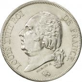 France, Louis XVIII, 5 Francs, 1824, Perpignan, MS(60-62), Silver, KM:711.11