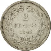 France, Louis-Philippe, 2 Francs, 1843, Lille, VF(30-35), Silver, KM:743.13