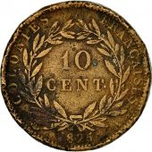 FRENCH COLONIES, Charles X, 10 Centimes, 1825, Paris, VF(20-25), Bronze, KM:11.1