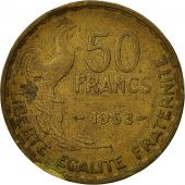 France, Guiraud, 50 Francs, 1953, Paris, VF(30-35), Aluminum-Bronze, KM:918.1