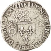 France, Charles IX, Teston, 1568, Toulouse, Argent, Sombart:4602