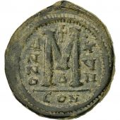 Justinien Ier, Follis, An 17 (543-544), Constantinople, 4e officine, TB+