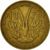 French West Africa, 10 Francs, 1956, Paris, TB, Aluminum-Bronze, KM:6