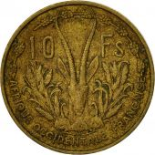 French West Africa, 10 Francs, 1956, Paris, TB+, Aluminum-Bronze, KM:6