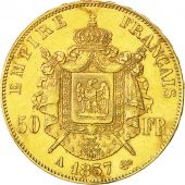 Second Empire, Napoléon III, 50 Francs, 1857, Paris, Gad. 1111