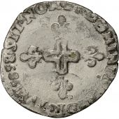 France, Henri III, Double Sol Parisis, 1585, Rouen, EF(40-45), Billon
