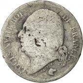 France, Louis XVIII, 2 Francs, 1822, Lille, VG(8-10), Silver, KM:710.12