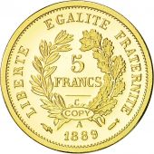France, Medal, Réplique 5 Francs Cérès, 1889, FDC, Or
