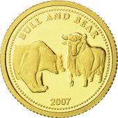 Palau, Dollar, Bull and Bear, 2007, FDC, Or
